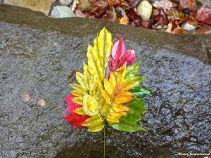 Fall Leaf Land Art