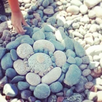 Mandala making at Ingonish Beach
