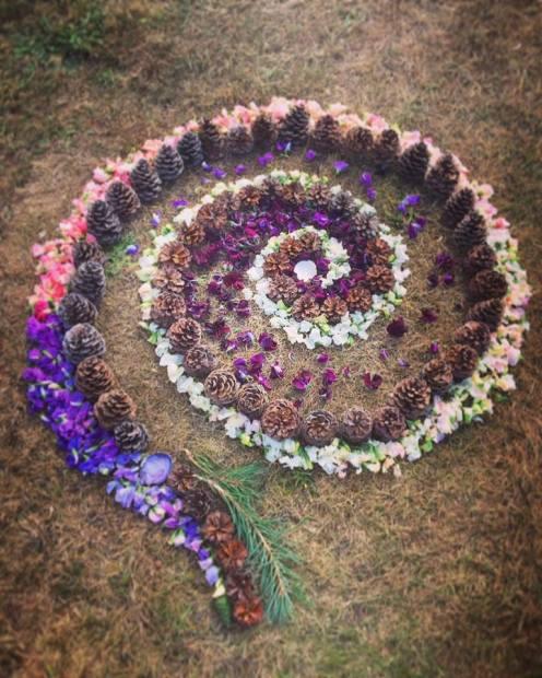 Spiral Mandala, Indian Summer Festival