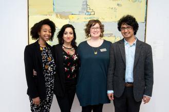 Left to Right: Whitney French (poet), Sheniz Janmohamed (poet), Anik Glaude (curator at Varley Art Gallery), Pushpa Raj Acharya (poet)